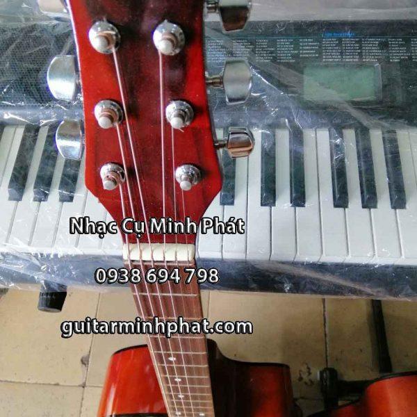 Đầu cần đàn guitar cho người mới tập chơi được trang bị khóa inox