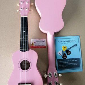 Mua đàn ukulele màu hồng trơn giá rẻ tại quận bình tân tphcm - nhạc cụ minh phát