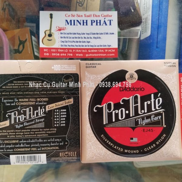 Bo Day Dan Guitar Classic D'Addario EJ45 gia re