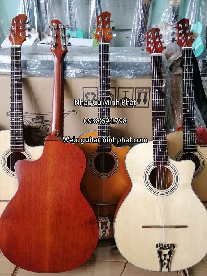 Đàn Guitar Vọng Cổ Thùng Phím Lõm 21 Phím Gỗ Hồng Đào 3