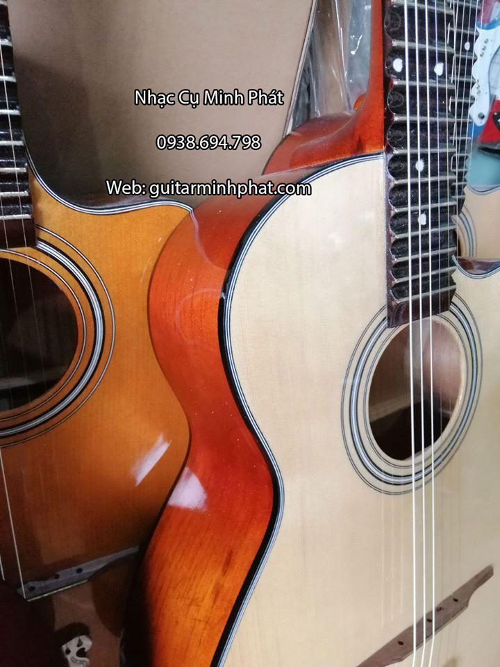 Đàn Guitar Vọng Cổ Thùng Phím Lõm 21 Phím Gỗ Hồng Đào 4