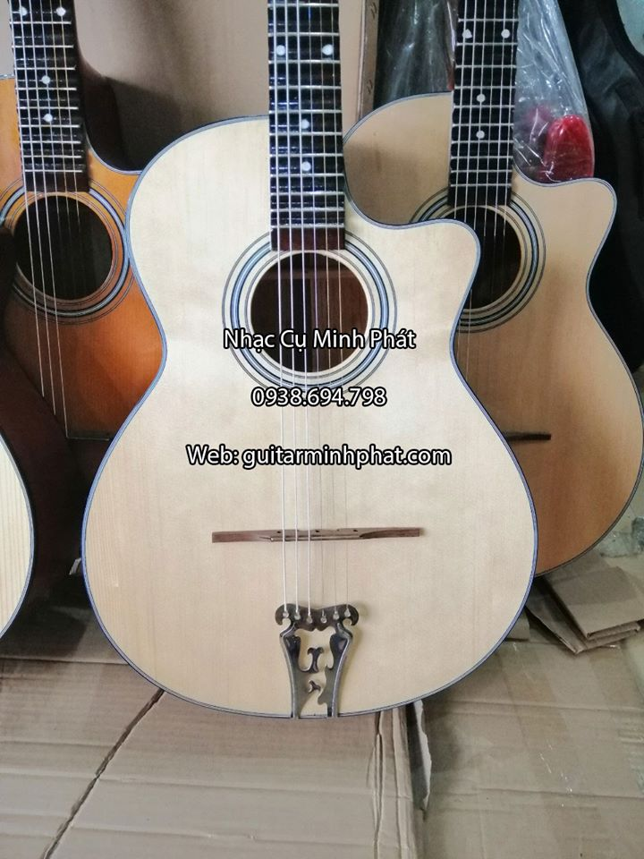Đàn Guitar Vọng Cổ Thùng Phím Lõm 21 Phím Gỗ Hồng Đào 5